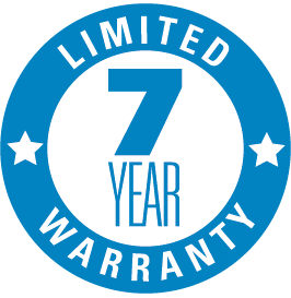 7 year limited warranty logo